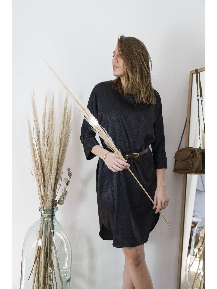 Robe Tulipe noire Lauren Vidal Femme