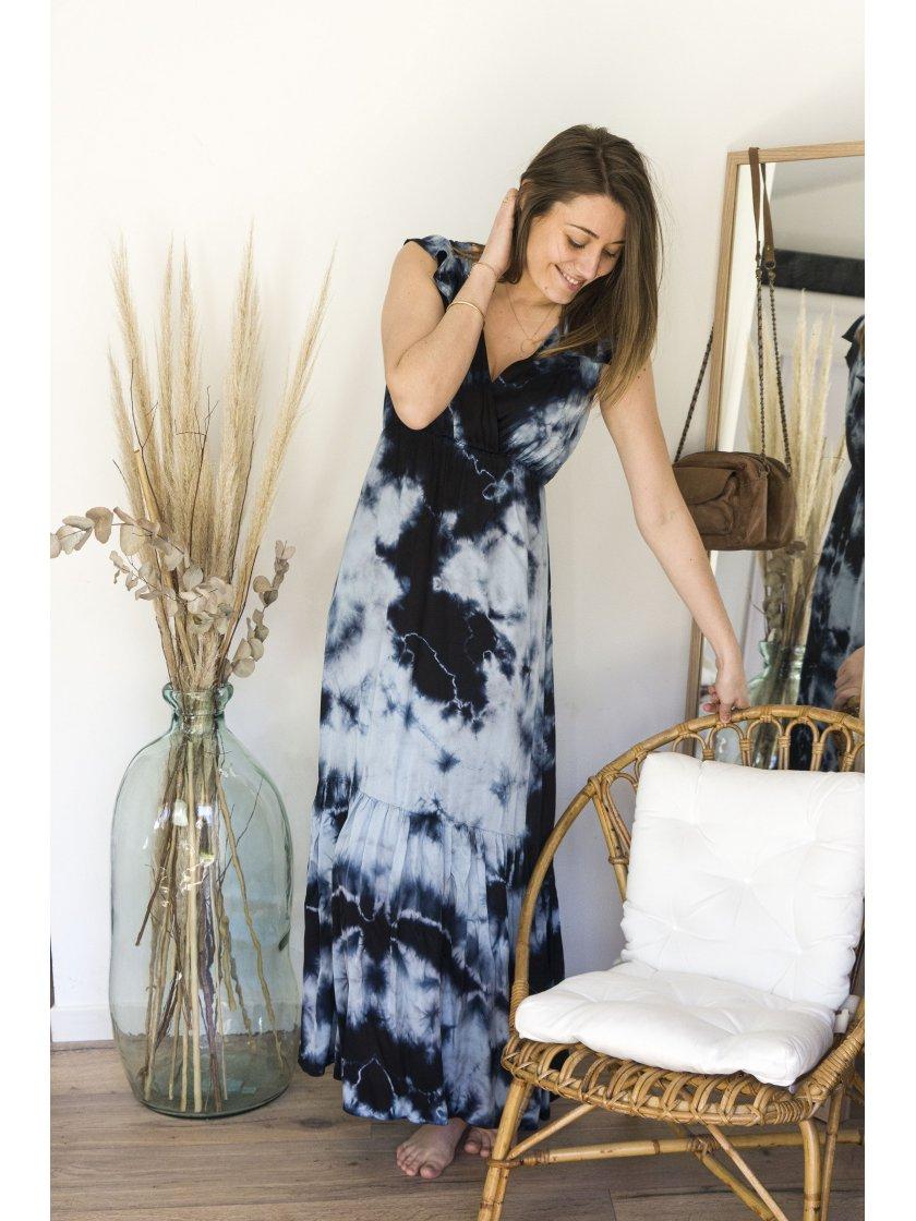 Robe Kalmie bleue Ciel Lauren Vidal Femme