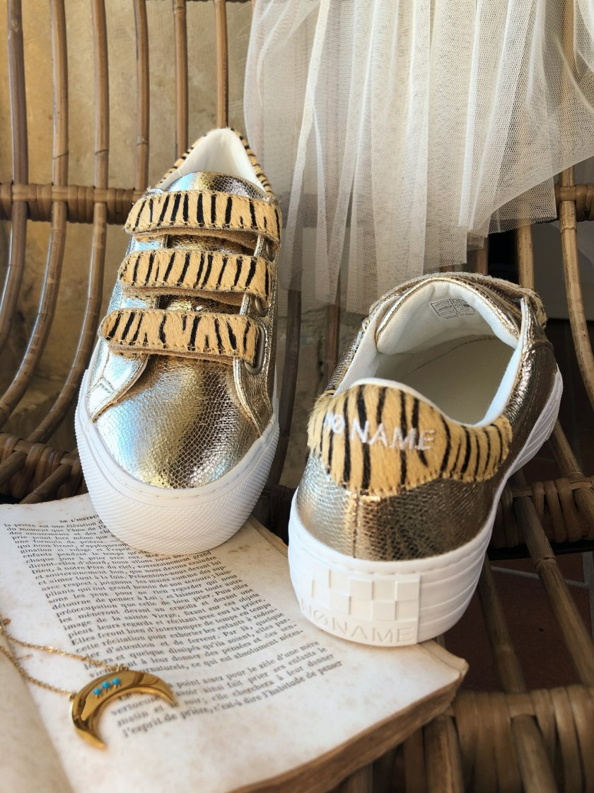 Baskets No Name Arcade Femme Sand/Natural