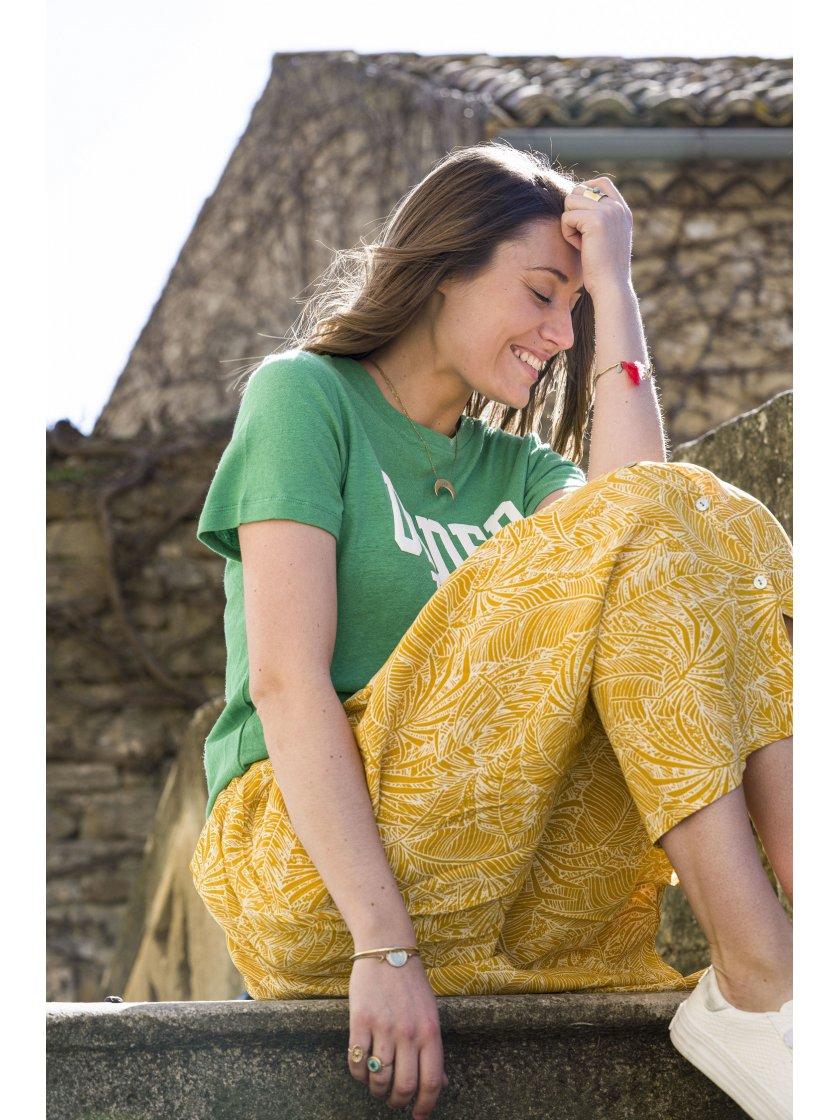 Jupe Farrah jaune imprimé tropical Suncoo Paris Femme