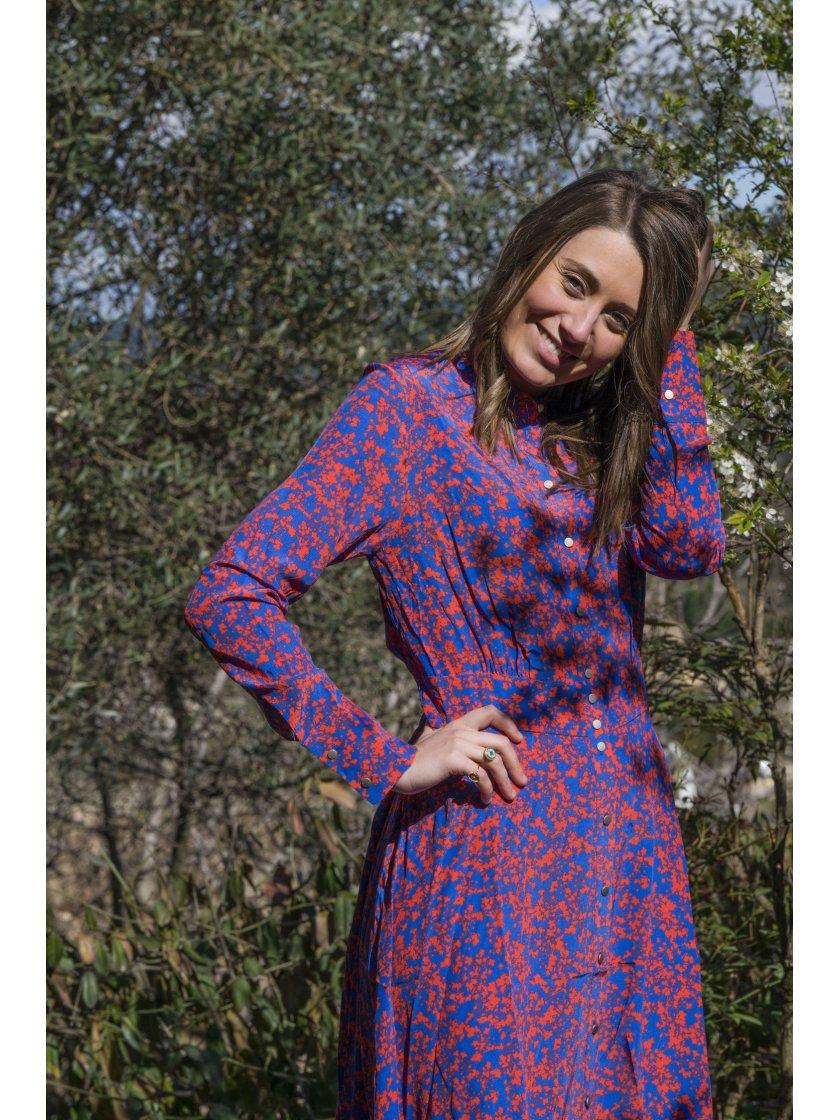 Robe Capucine imprimé bicolore Suncoo Paris Femme