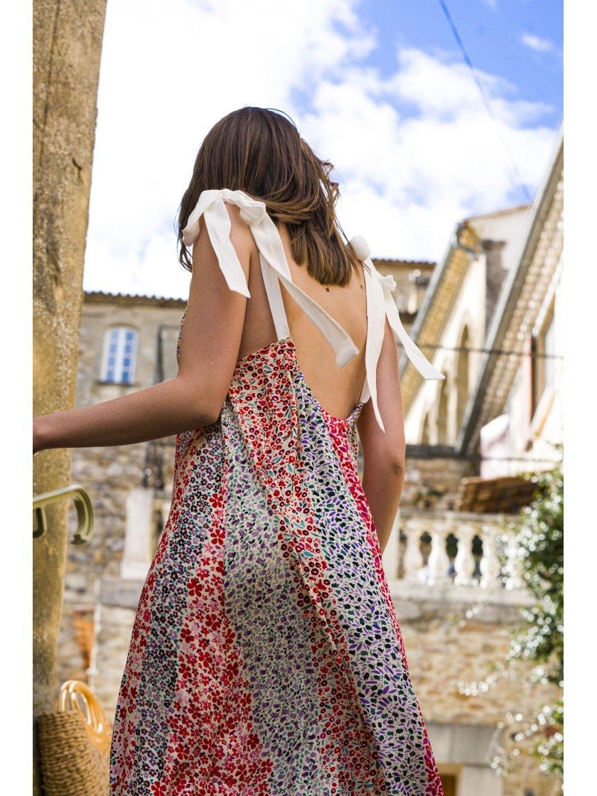 Robe Cindy imprimé fleurs Suncoo Paris Femme