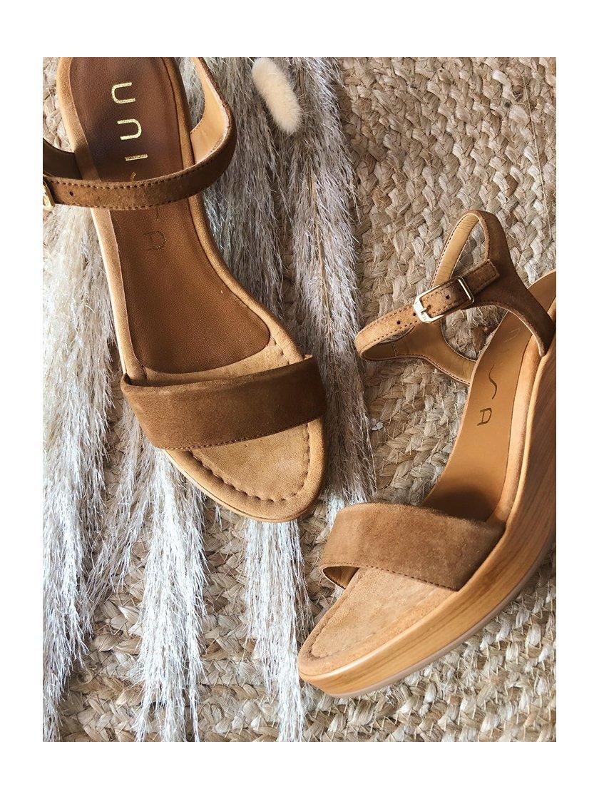 Sandales Irita marron Unisa Femme