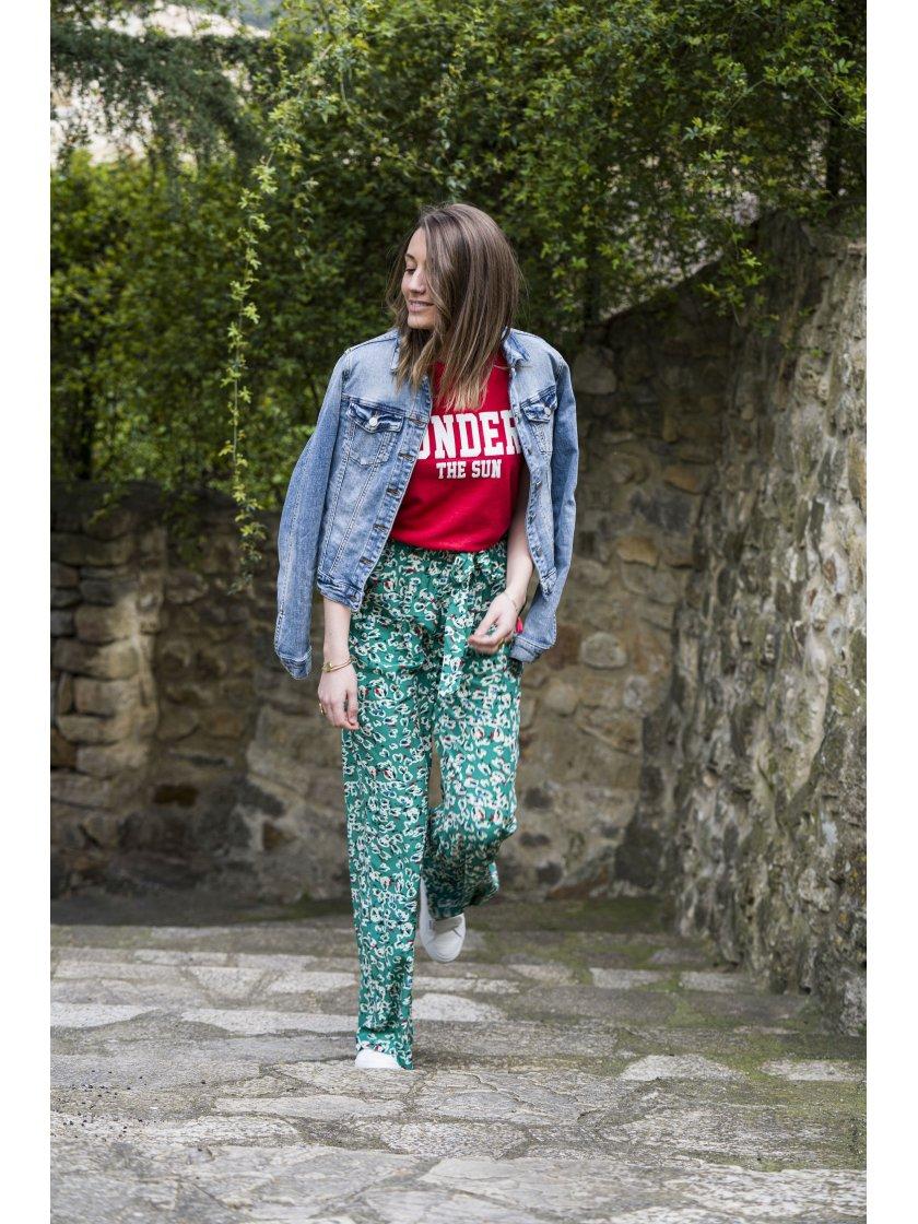 Pantalon Jhon imprimé fantaisie suncoo femme