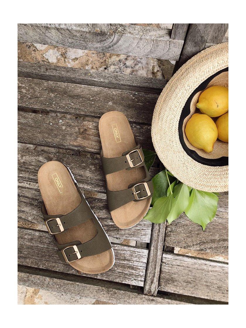 Sandales kaki Madison Only Femme