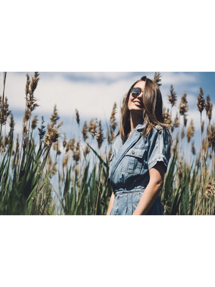 Combishort en jeans Molly Bracken Femme