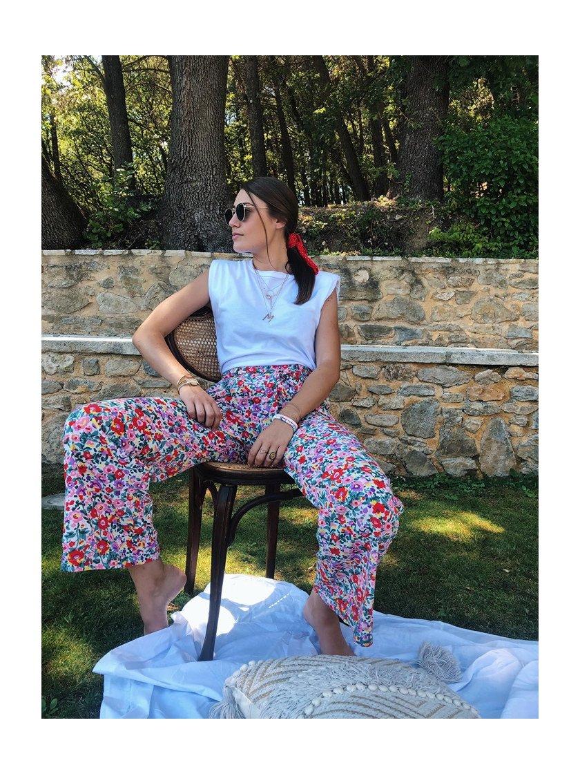 Pantalon Isa Fleuri Femme