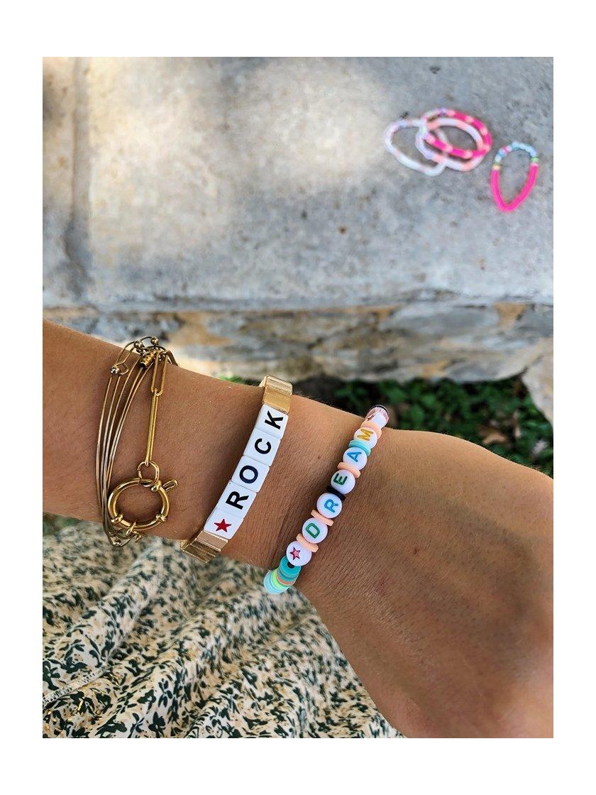 Bracelet Rock Doré
