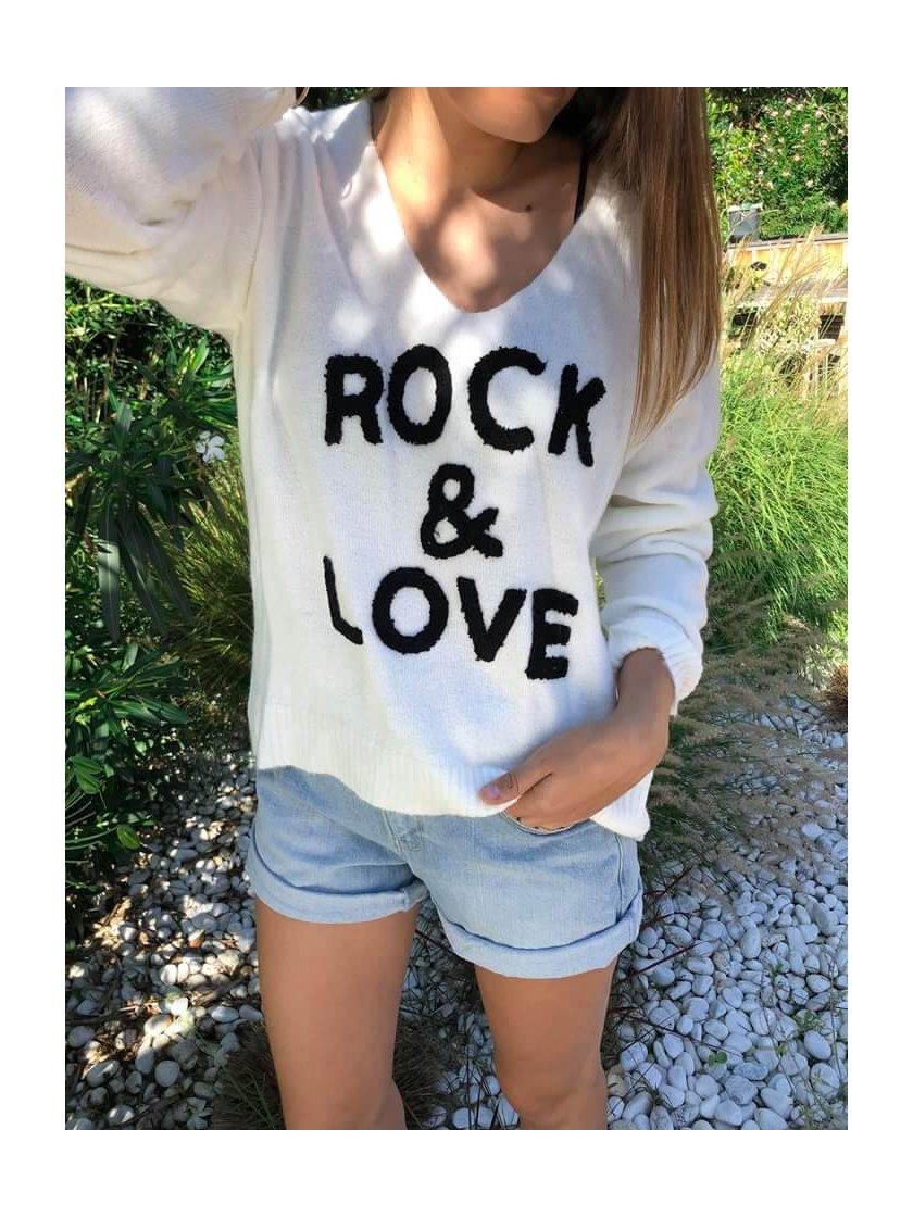 Pull Beige Rock & Love Jubylee Femme