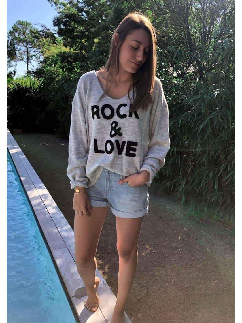 Pull Gris Rock & Love Jubylee Femme