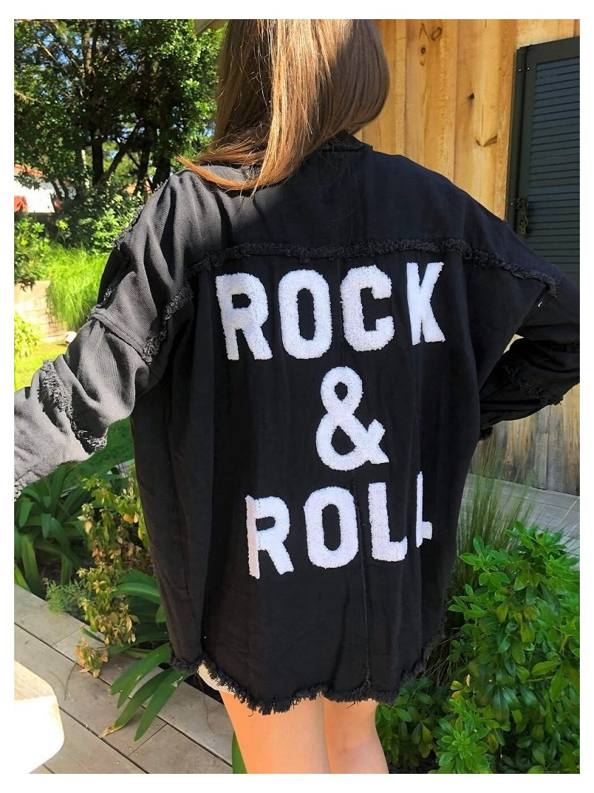 Veste Noire Rock & Roll Jubylee Femme