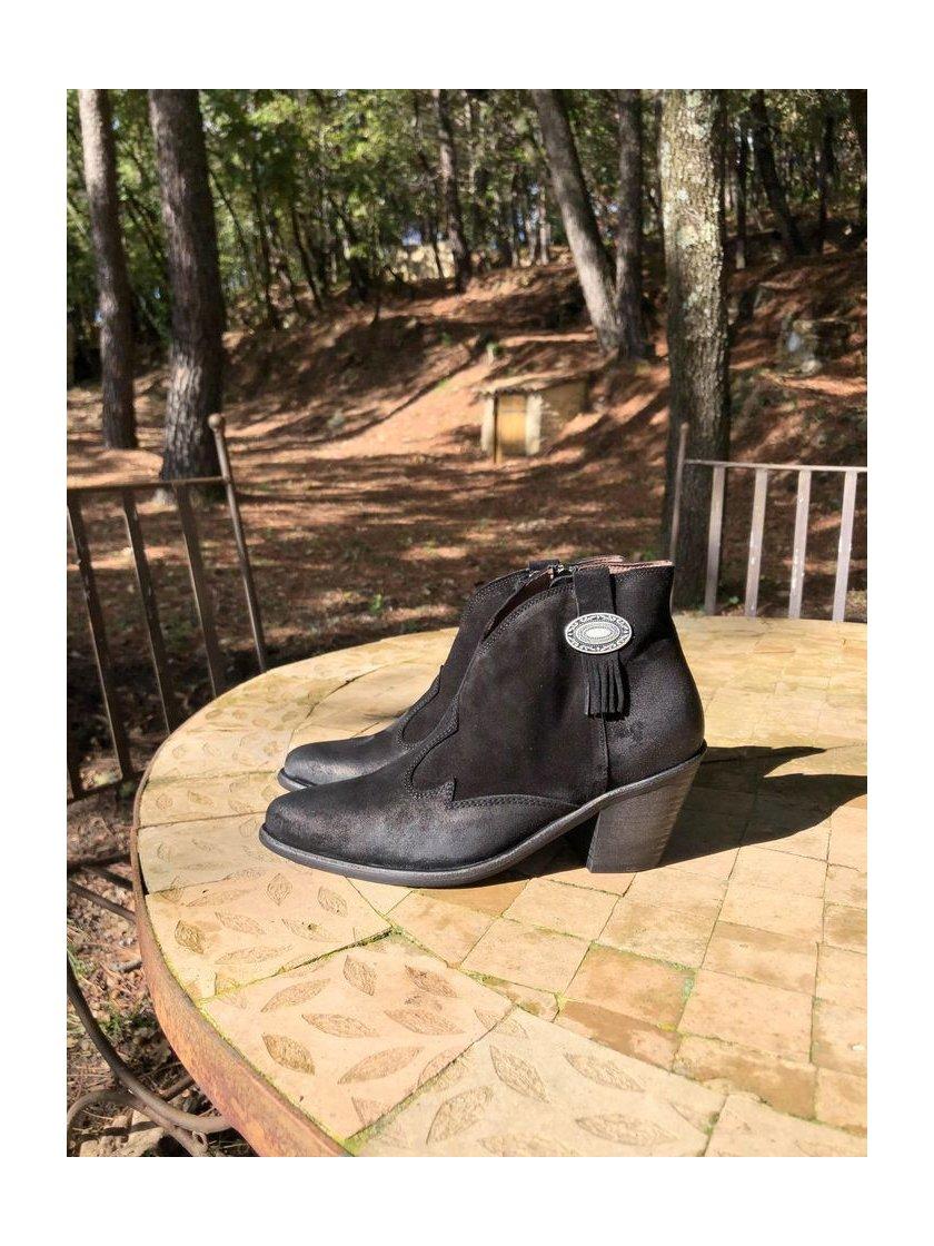 Boots Noires Verde Minka Femme