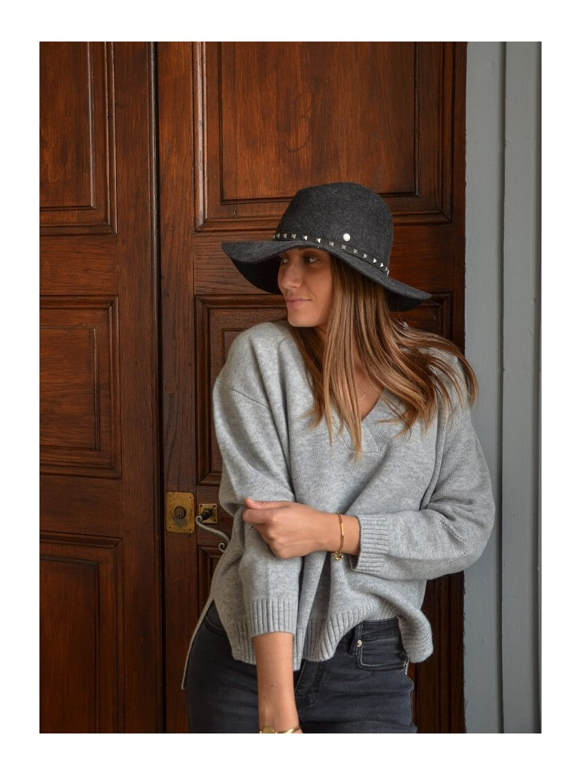 Pull Oversize Gris en laine Platon Suncoo Paris Femme