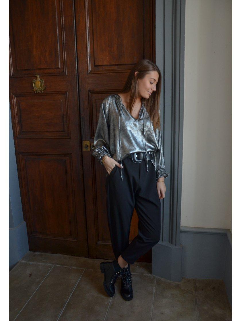 Pantalon Taille Haute Ceinturé Impérial Femme