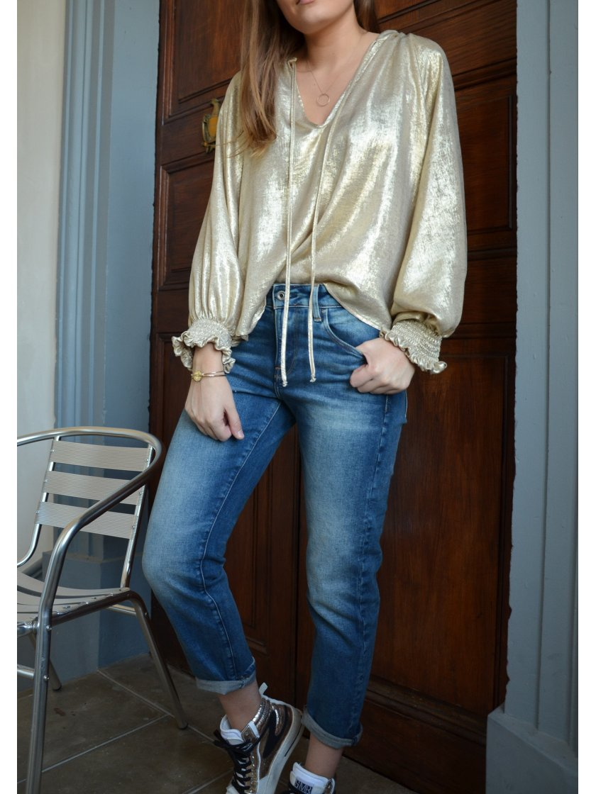 Jean Boyfriend Bleu Kate G-Star Femme