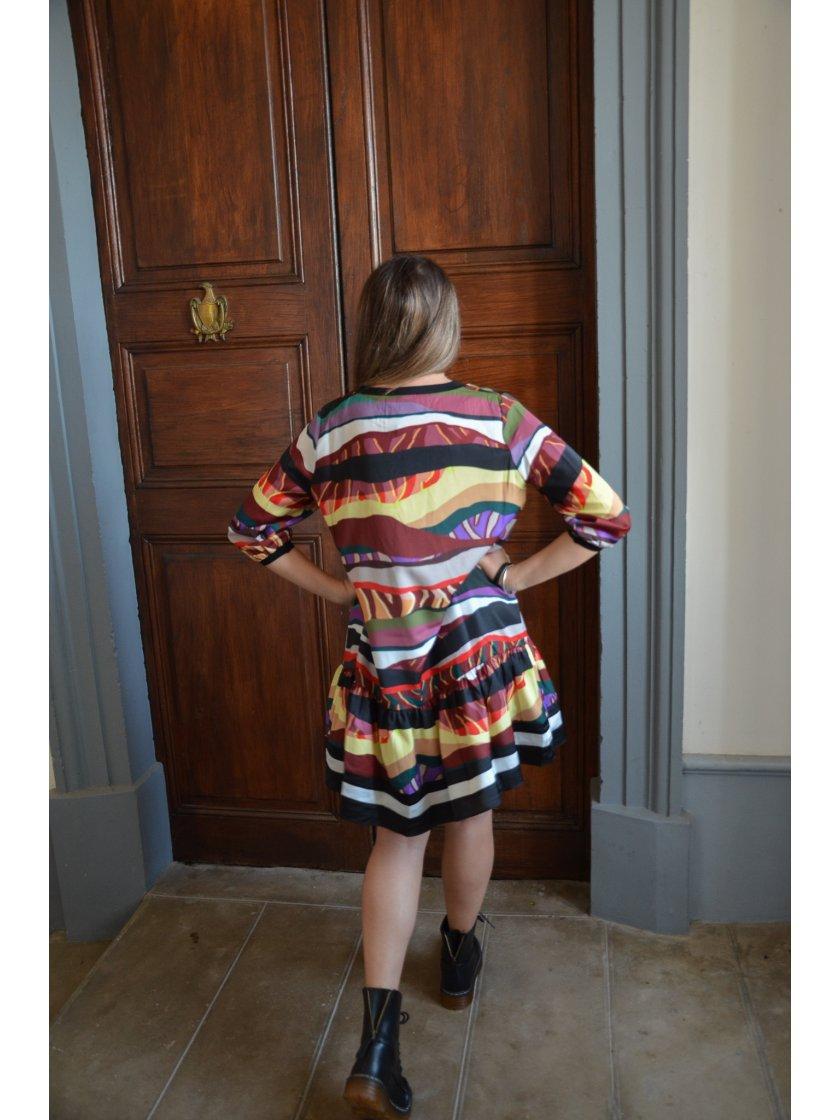 Robe Multicolore Imprimé Graphique Molly Bracken Femme