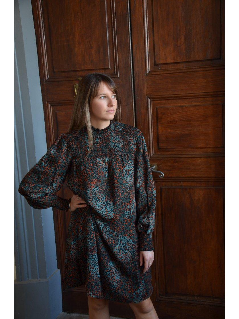 Robe Verte Imprimé Panthère Molly Bracken Femme