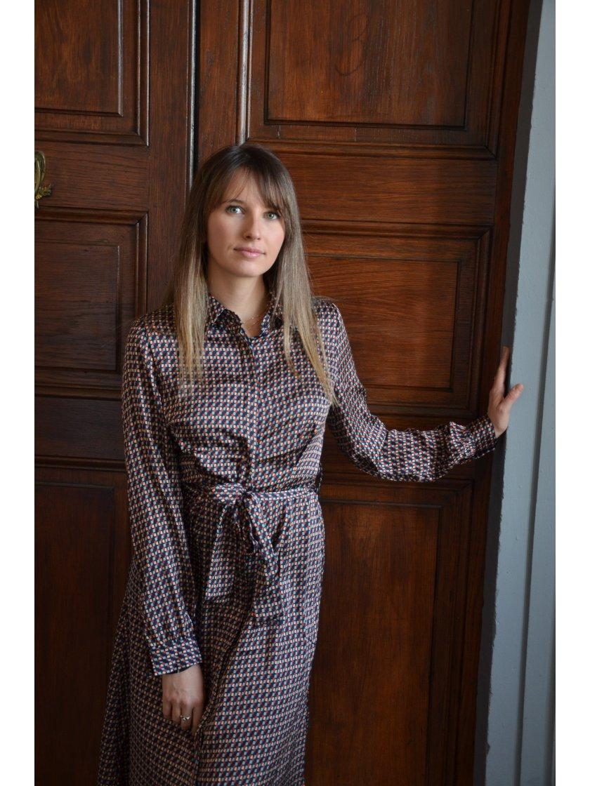 Robe Bleu Marine Imprimé Molly Bracken Femme