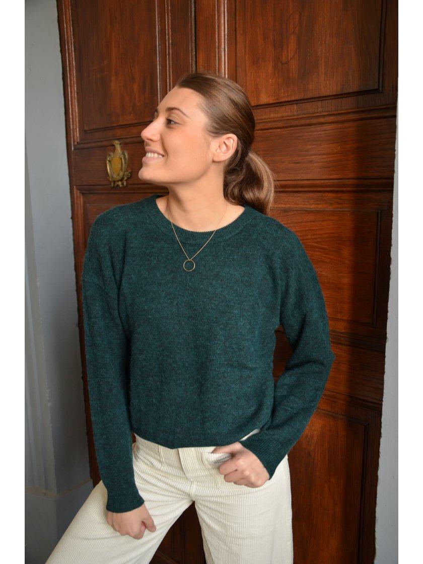 Pull Laine Vert Prime Suncoo Paris Femme