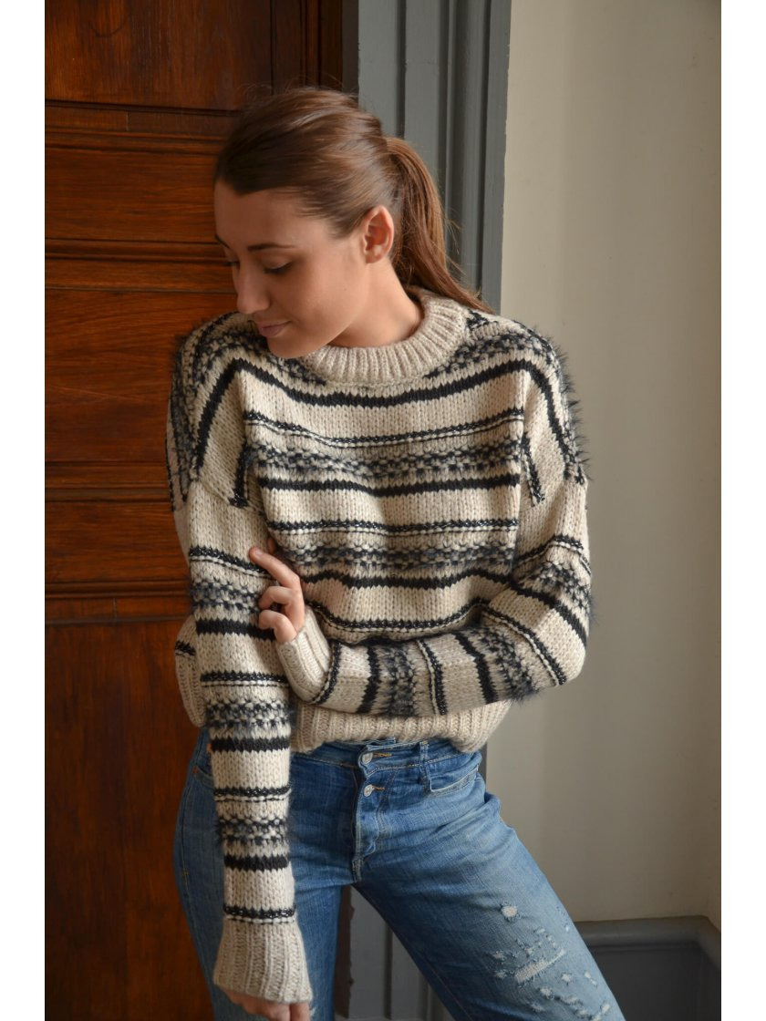 Pull Maille Col Rond Lyla Only Femme