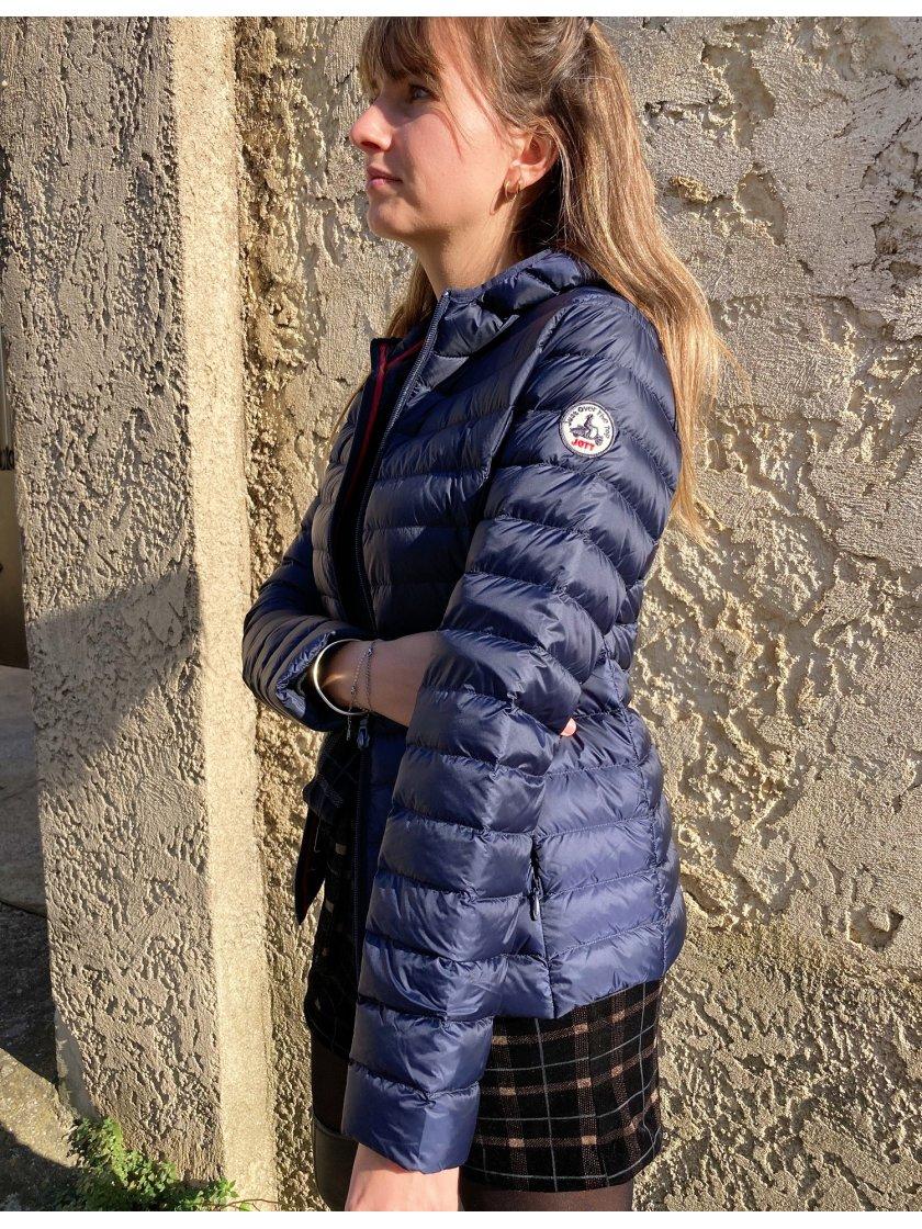 Doudoune Capuche Bleu Marine Cloe Jott Femme