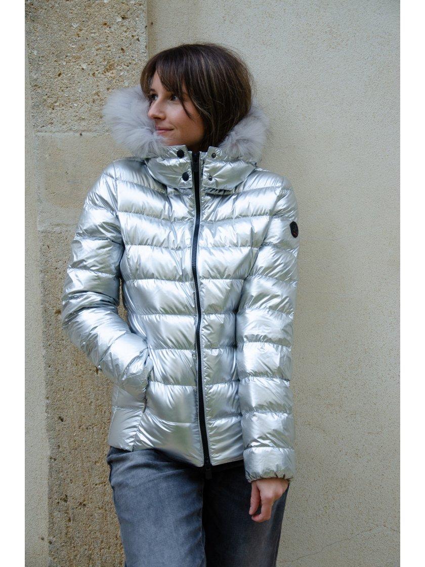 Doudoune Capuche Silver Luxe Jott Femme