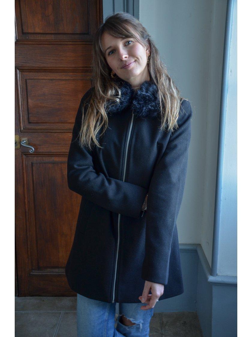 Manteau Court Noir Molly Vero Moda Femme