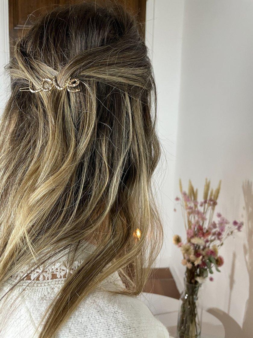 Barrettes Cheveux ou broche  Love Femme