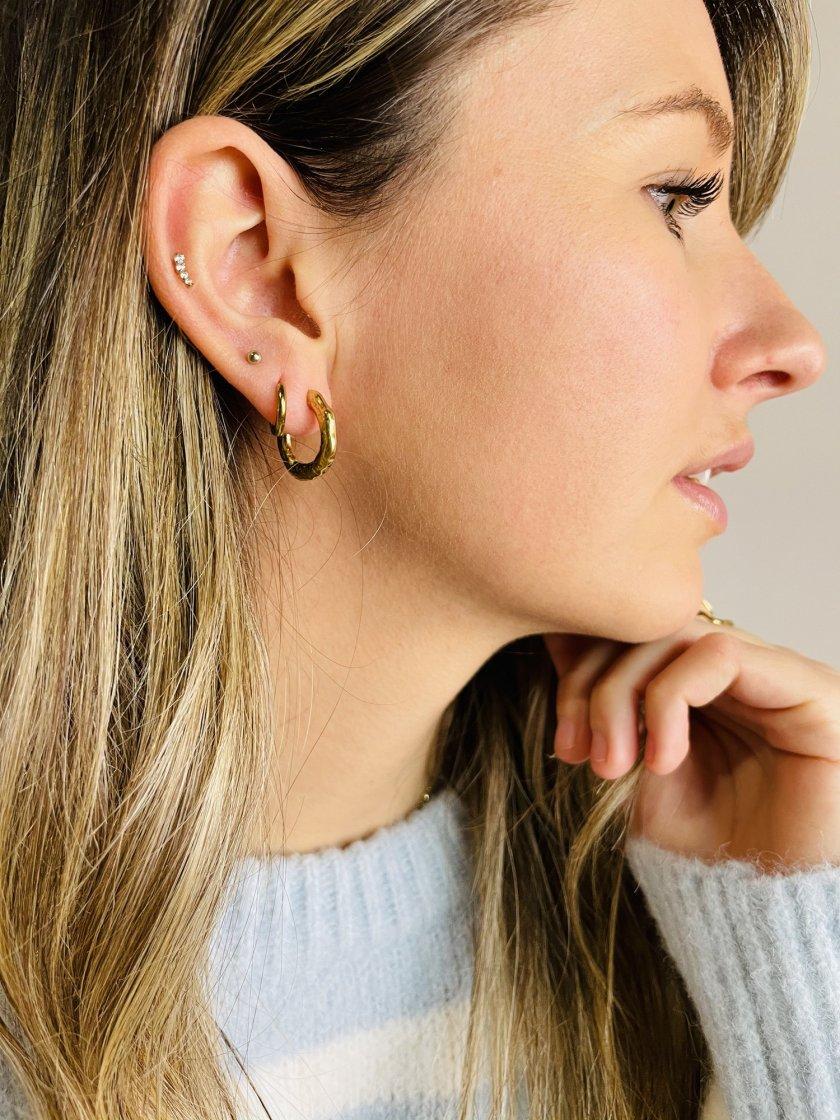 Boucles d'oreilles Petites Créoles Or Femme
