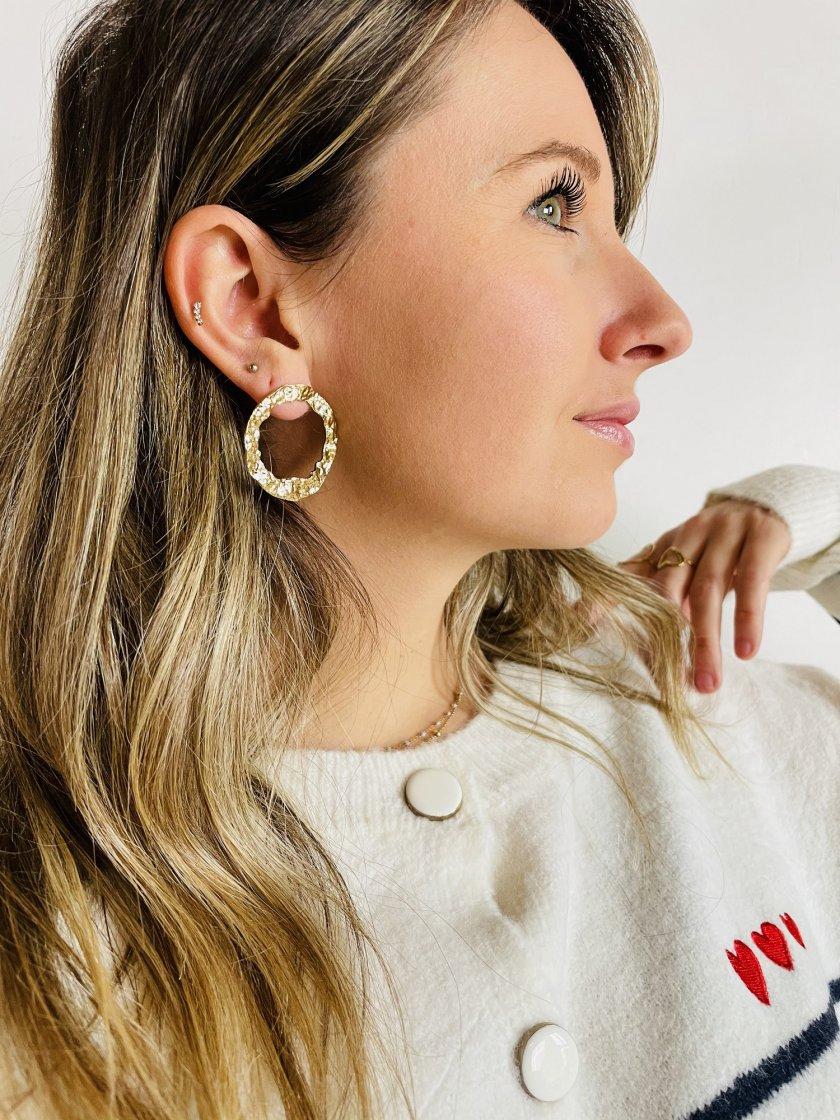 Boucles d'oreilles Créoles Or Femme