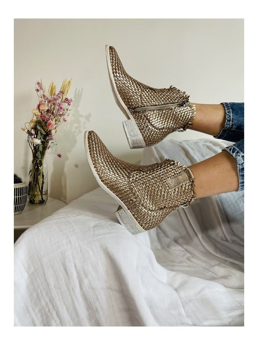 Boots Santiag Intrecciato Semerdjian Femme