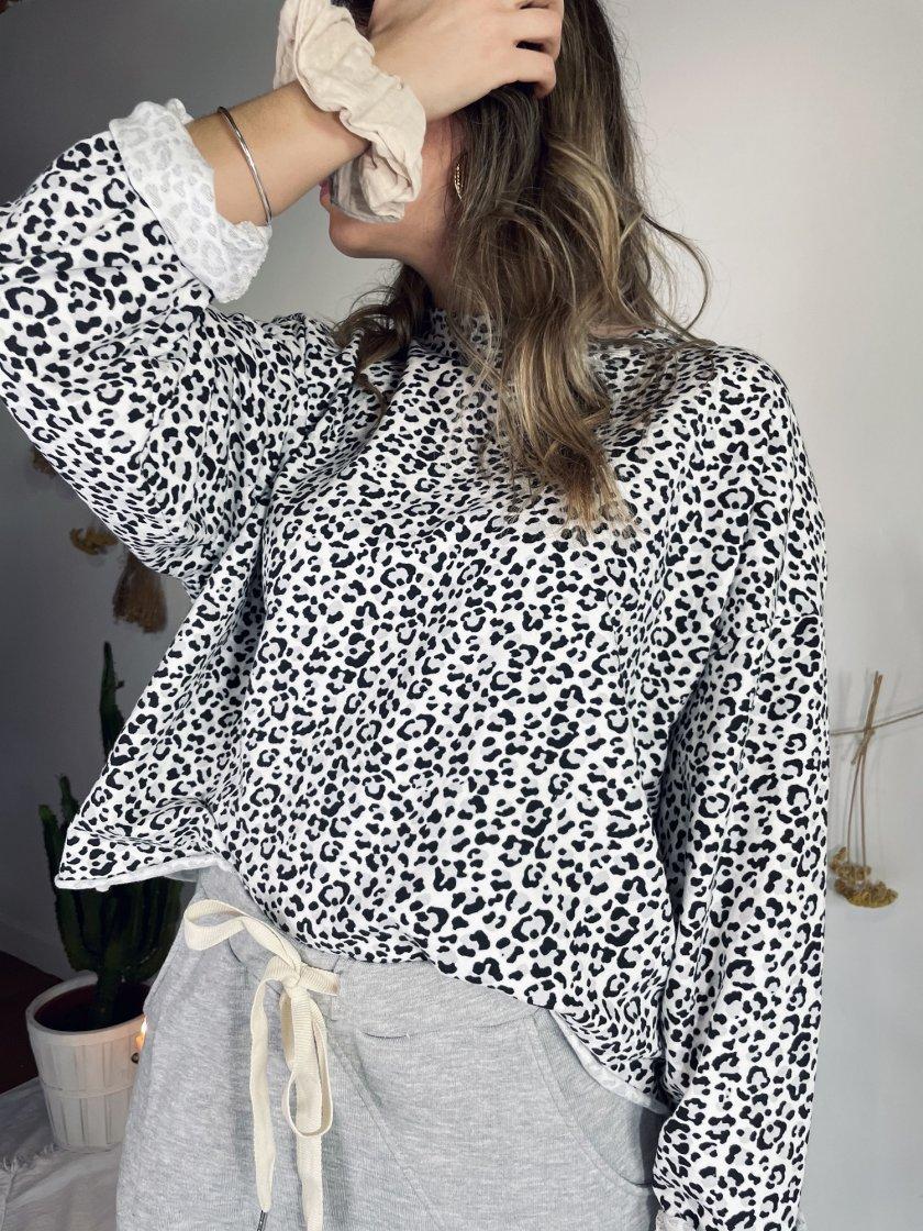 Sweat Imprimé léopard Léonie Banditas Femme