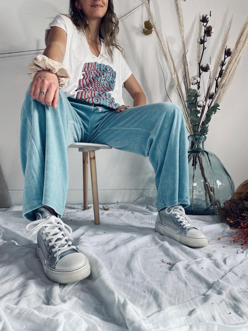 Pantalon velours Kim Bleu Canard Banditas Femme