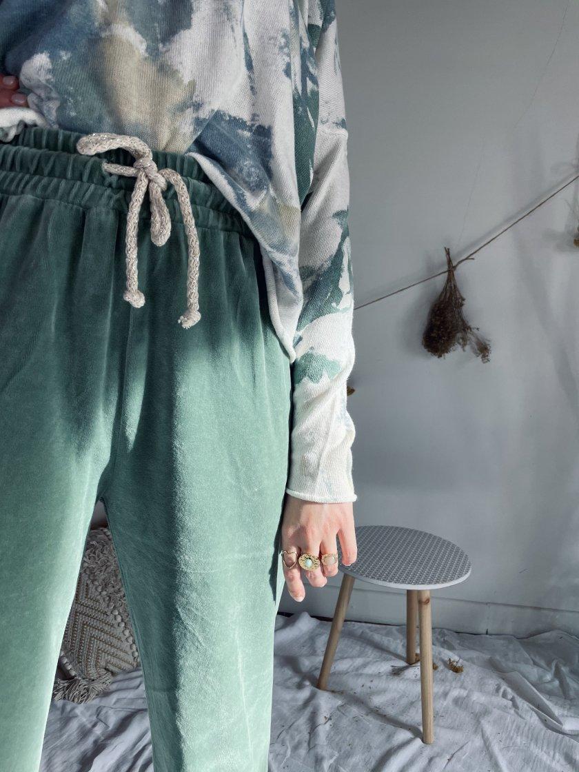 Pantalon velours Kim Vert Banditas Femme