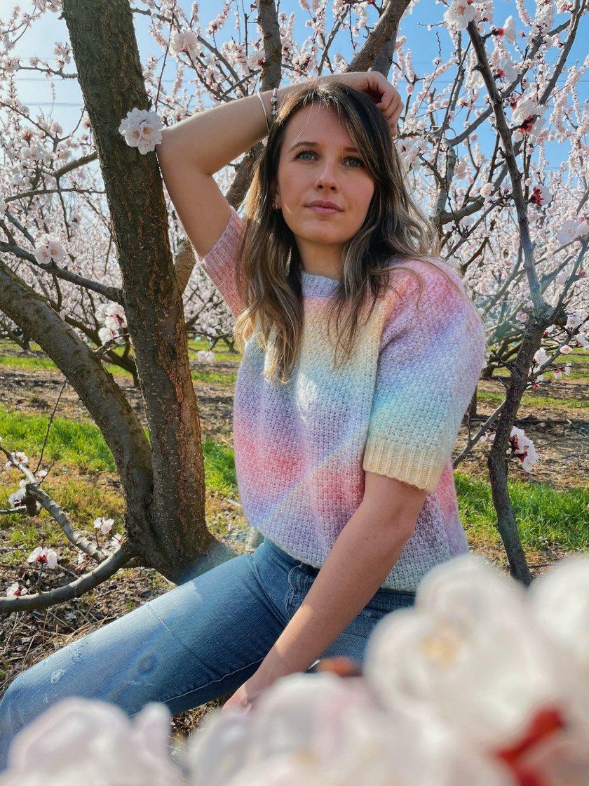 Pull Manches Courtes Eva Rainbow Femme