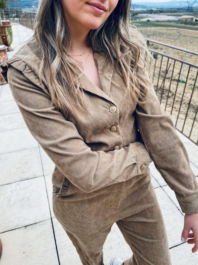 Combinaison Jeanne Camel Femme