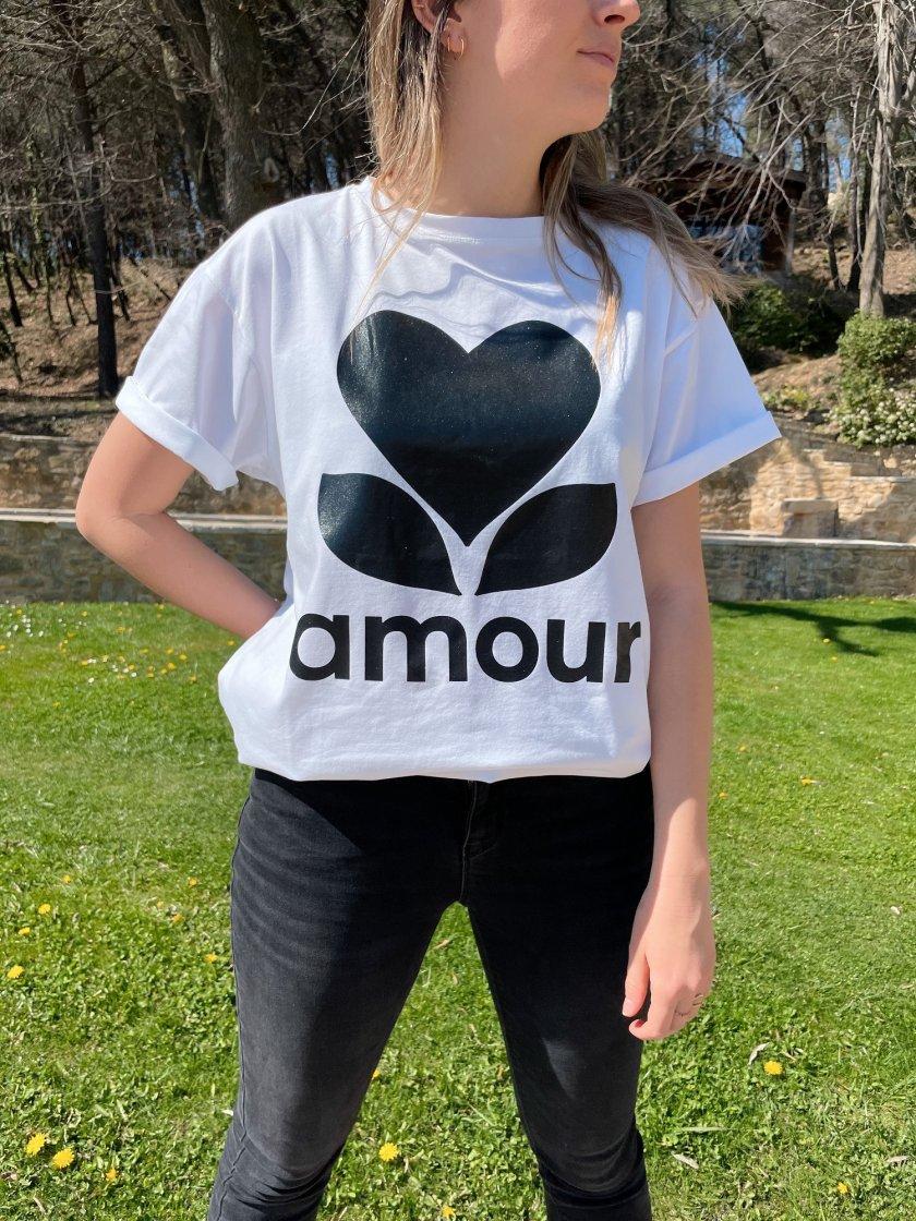 Tee-shirt Boyfriend Blanc Amour