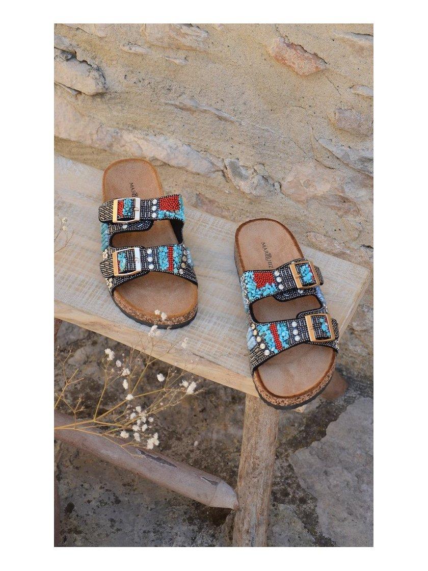 Sandales Fantaisies Noires Marquiiz