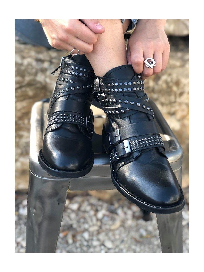 Boots Semerdjian noir femme