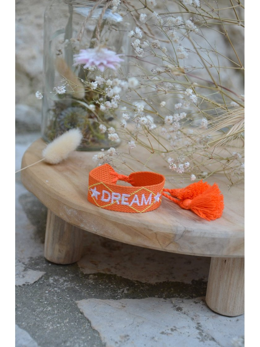 Bracelet Tissé Dream Orange