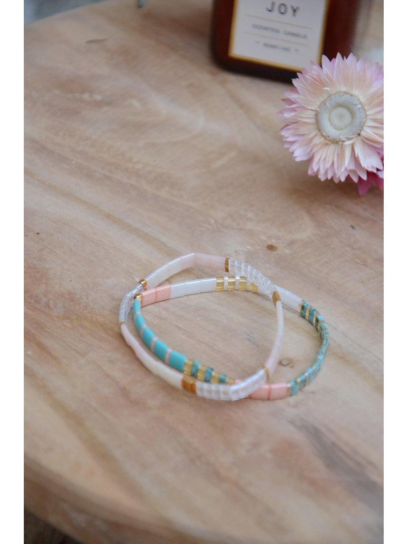 Bracelet Nala Perles Japonaises Transparentes