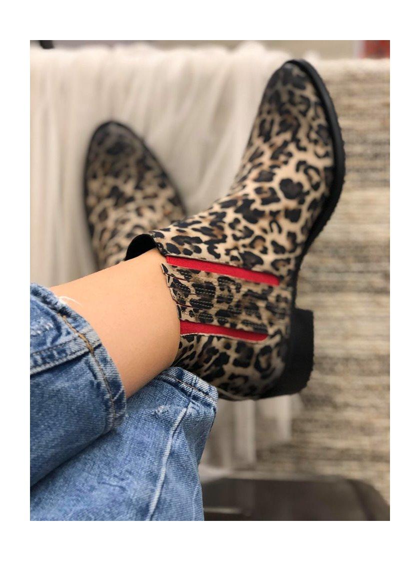 Boots Mimmu imprimé léopard femme