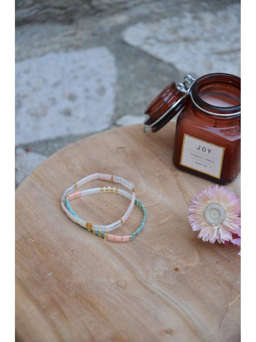 Bracelet Nala Perles Japonaises Pastel