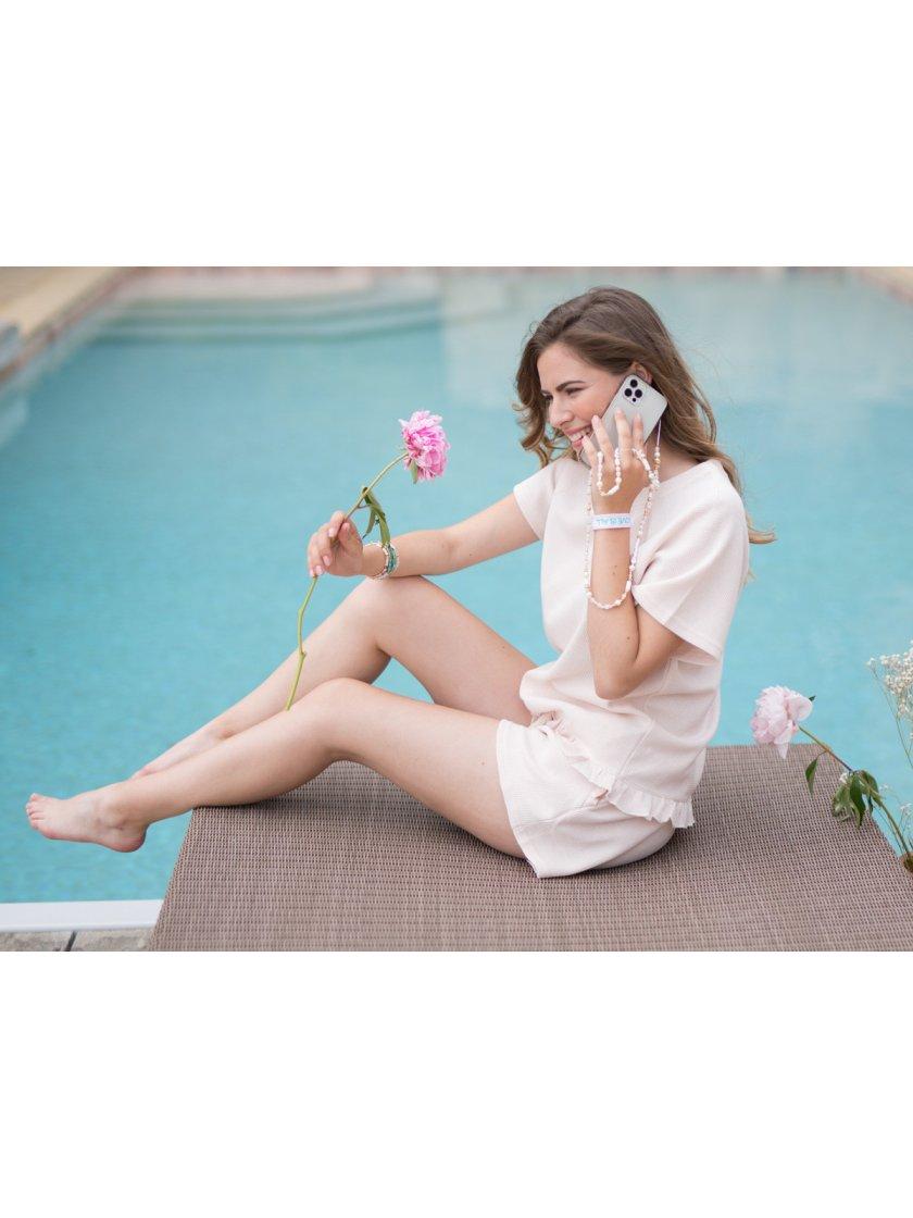 Bijoux Accroche Téléphone  Blanc