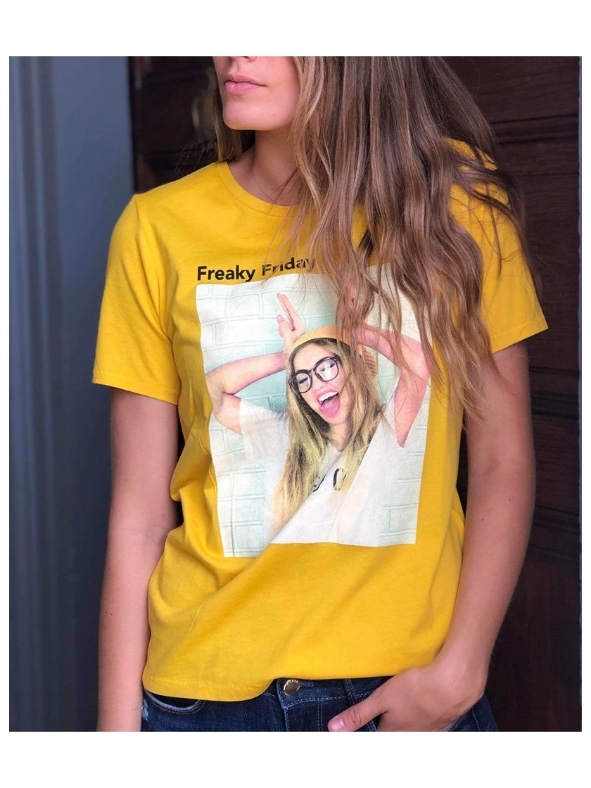 Tee shirt jaune photo top Only femme